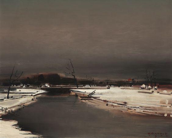 Albert Servaes (1883-1966), Winterse Leie - 1944