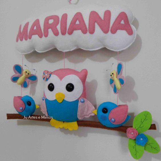 Mobile coruja no galho Mariana