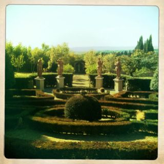 At Villa Catignano in Tuscany where we stayed in June