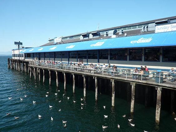 Seattle waterfront photo gallery the seagull acre and for Best fish and chips in seattle