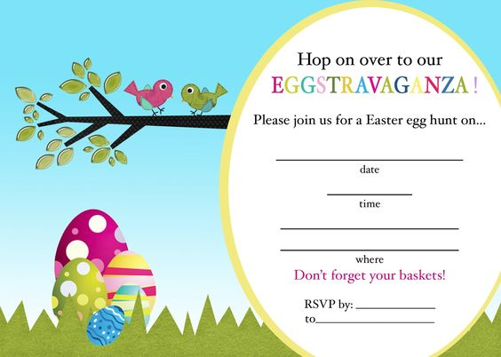 Creatively Quirky at Home FREE Easter Egg Hunt Printable - easter invitations template