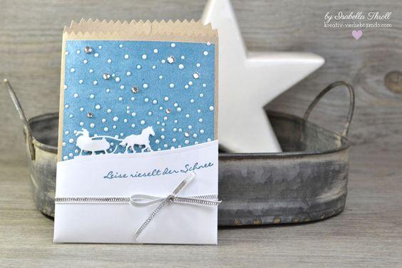 """Kartenhülle """"Leise rieselt der Schnee"""" -kreativ-verliebt-"""