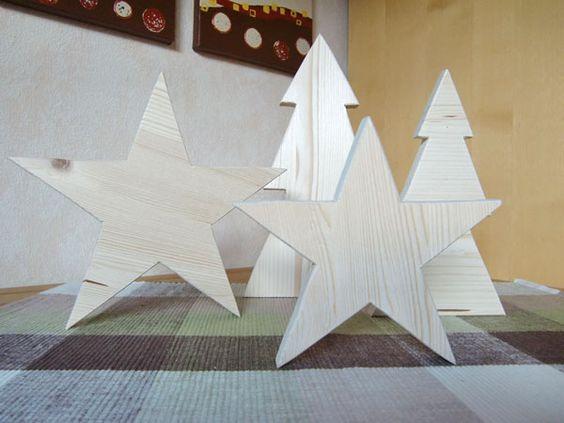 diy weihnachtsdeko sterne und weihnachtsbäume aus holz | silart, Innenarchitektur ideen