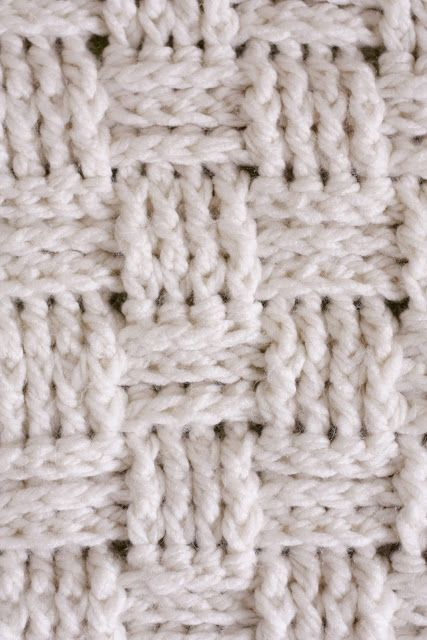 Knitting Stitch Looks Like Weaving : Baskets, Baby blankets and Blankets on Pinterest