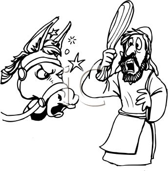 balaams talking donkey coloring pages - photo#26