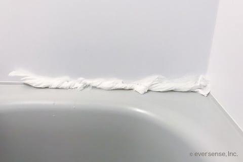 ゴムパッキンのカビの取り方は ティッシュパック が正解