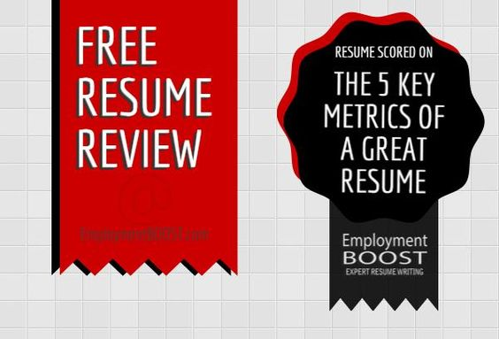 Free Resume Review And Resume Scorecard from Employment BOOST - resume review
