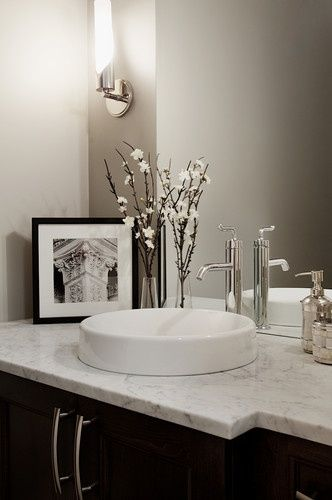 Powder room design pictures remodel decor and ideas for Powder room vanity ideas