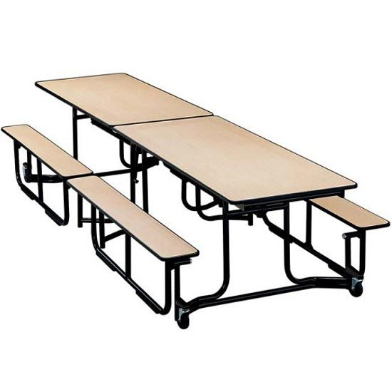 Astonishing Uniframe Cafeteria Bench Table 12 Long By Ki Uf12Be Machost Co Dining Chair Design Ideas Machostcouk