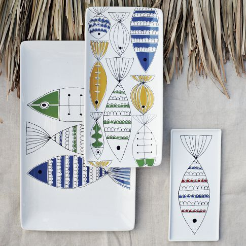 west elm, mod fish platters (these would work with Grandmother's Cocteau china)