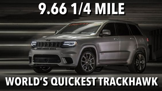 Insane 1 200 Hp Jeep Grand Cherokee Trackhawk Does 9 66s Quarter