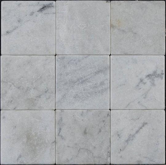 Bianco Carrara Marble Tile 4x4 Tumbled Marble Tile Carrara Marble Tile Carrara Marble