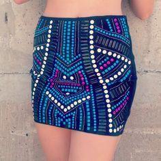 #embellished skirt