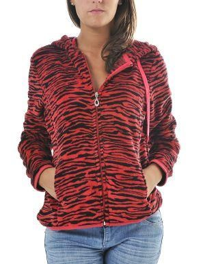 (CLICK IMAGE TWICE FOR DETAILS AND PRICING) Plush Zebra Print Hoodie Jacket Red. Layer this cozy jacket over a t-shirt and pair it with your favorite jeans or leggings.. See More Tops at http://www.ourgreatshop.com/Tops-C74.aspx