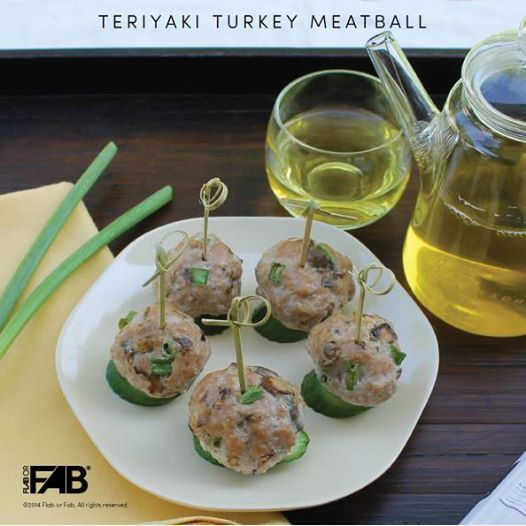 Teriyaki Turkey Meatball Who doesn't love meatballs! They're so easy to make and can be enjoy as a snack or meal. This dish goes well with rice, salad, pasta or by itself. You can have fun adding your favorite ingredients too. http://flaborfabrecipes.com/?p=1704
