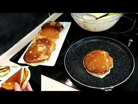 احسن من بان كيك فطائر التفاح والجزر في المقلاة فرمشة عين لفطور صباح أو كوتي تحفة Food Breakfast Griddle Pan