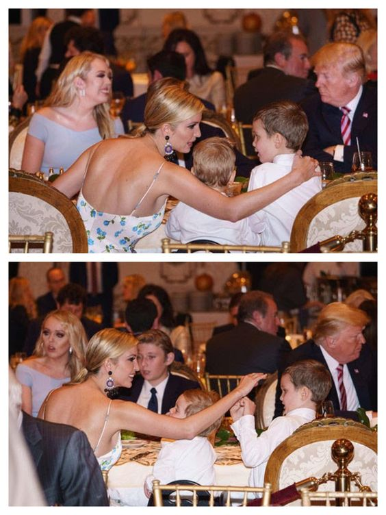 Ivanka Trump & her children. President Trump, Barron, Tiffany, Mar-a-Lago, Thanksgiving, 11/22/18