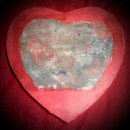 Valentijnsgeschenk zelfgemaakte canvas.