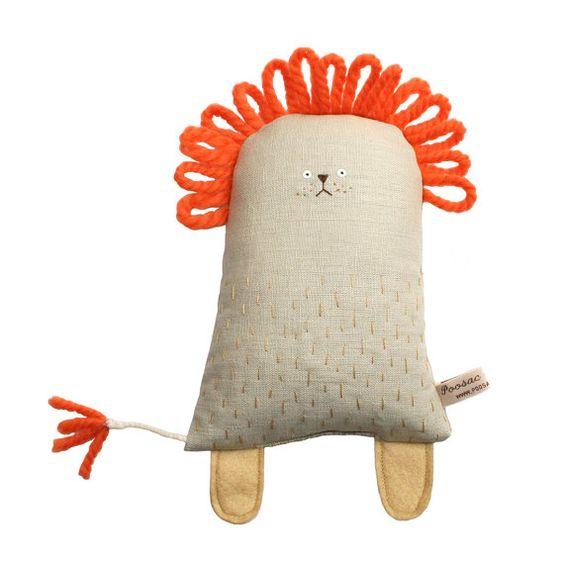 Lion Handmade Plush Toy Lion Stuffed Toy Animal Softie by poosac