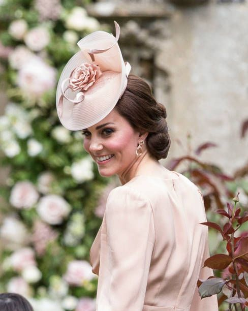 Catherine Duchess of Cambridge attends the wedding of Pippa Middleton and James Matthews at St Mark's Church on May 20 2017 in Englefield Green...: