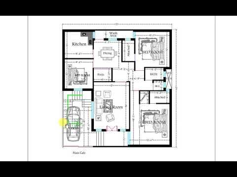 37x40 Ft 3bhk Floor Plan With Dining And Car Parking In 2020 Floor Plans How To Plan New House Plans