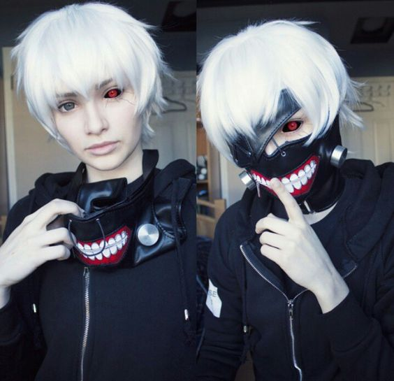 I'm so excited cause the mask is actually super cheap (although I don't know the quality) and so is a white wig so i might be able to just buy that and a hoodie and bam! cosplay.