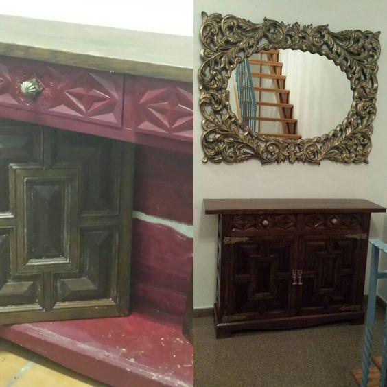 Restauracion de mueble castellano con goma laca mis for Mueble castellano restaurado