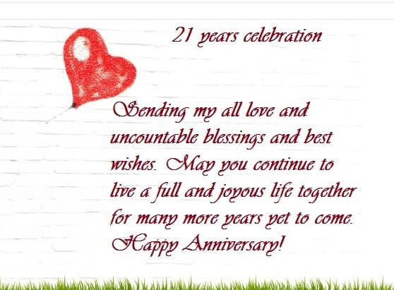 Happy 21st Marriage Anniversary Wishes Images Quotes Happy 21st Anniversary Wedding Anniversary Wishes 21st Wedding Anniversary
