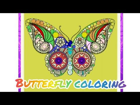 Butterfly Coloring Pages Android App Book Color Paint It Youtube In 2020 Butterfly Coloring Page Coloring Pages Childrens Mood