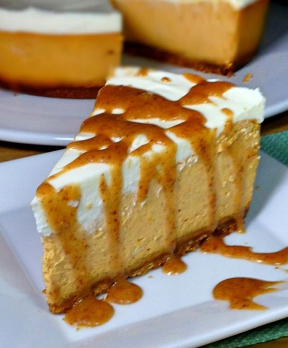Pumpkin RumChata Cheesecake - Diary of a Humble Chef