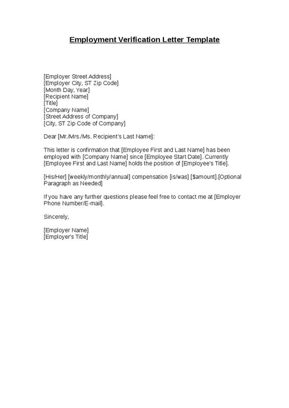 employment confirmation letter verification appointment letters - employer phone number