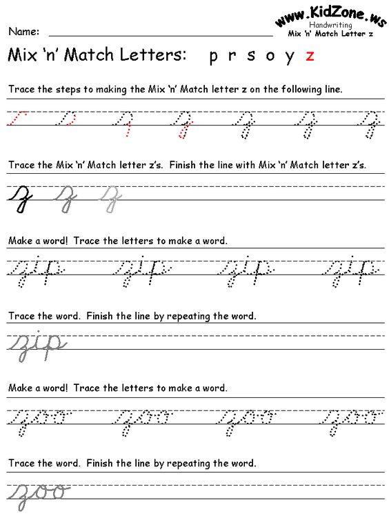 cursive writing pages   letras cursivas minusculas   Pinterest ...
