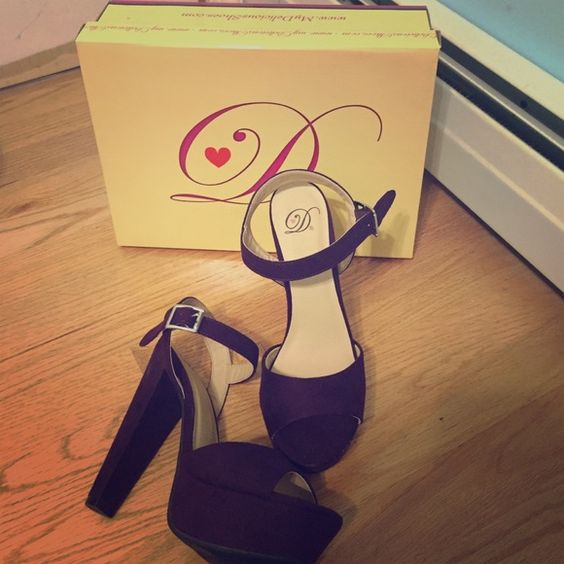 Dark Purple Ankle Strap Pumps These pumps are a size 8 US and they're from Charlotte Russe. They have never been worn! Charlotte Russe Shoes Heels