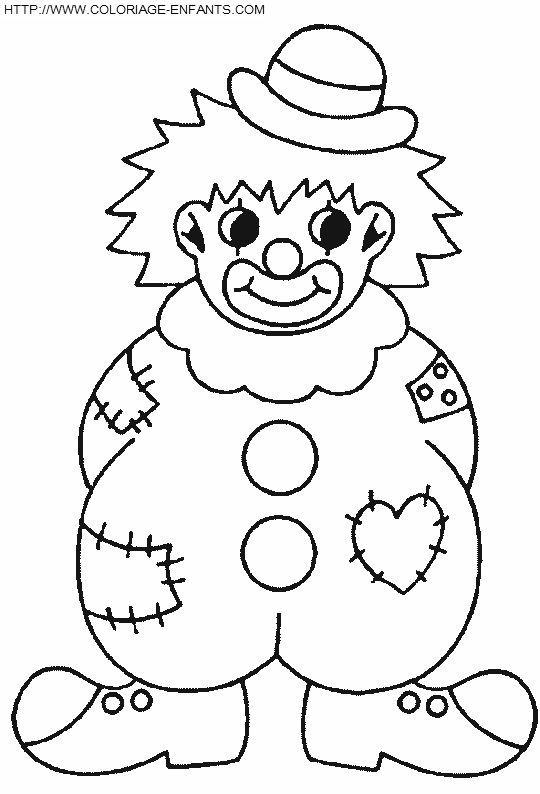 Gabarit Du Clown Clown Du Gabarit Clown Crafts Coloring Pages Clown