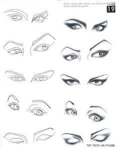 Desenho de moda: Olhos