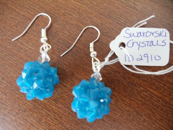 Handmade in USA Swarovski crystals Beadwoven by AmberMoonGallery, $14.99