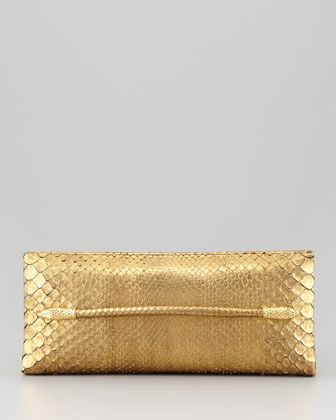 Metallic Python Serpent T-Bar Clutch by Tom Ford at Neiman Marcus $1680.00