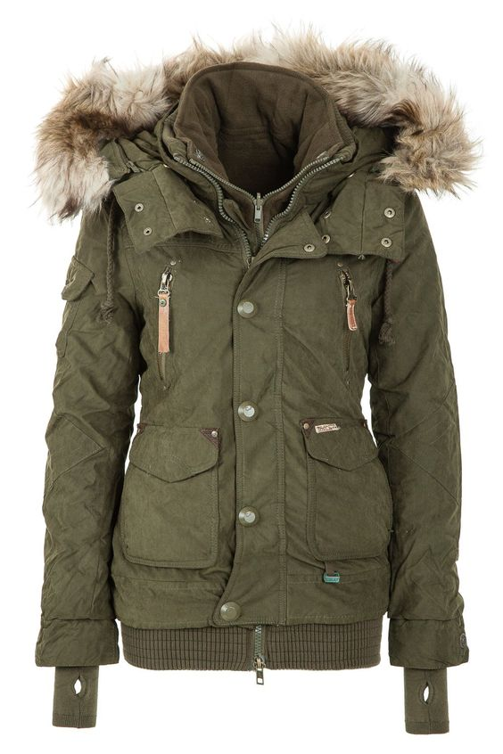 Khujo Women's Winter Jacket Margret Olive 320 http://www ...