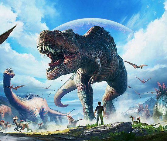 Poster Ark Survival Evolved T Rex Sky De Aboutabove Ark Survival Evolved Bases Ark Survival Evolved Survival