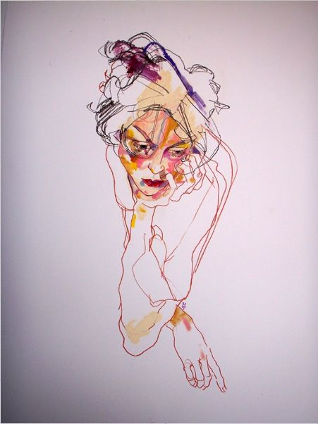 howard tangye-Figure drawing unit. Blind contour:
