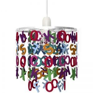 suspension de plafond lettres de lalphabet de couleur luminaire pour chambre - Suspension Ado
