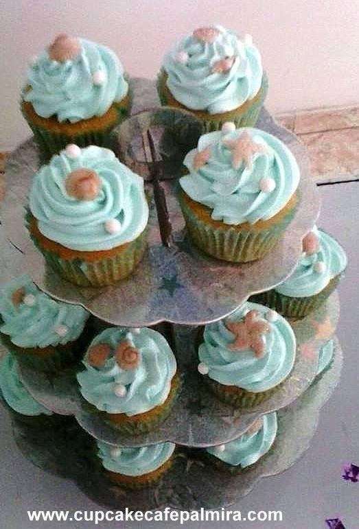 Cupcakes Tema Ariel