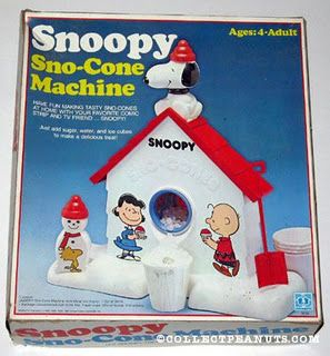 Loved The Snoopy Sno-Cone or Snow Cone Machine.