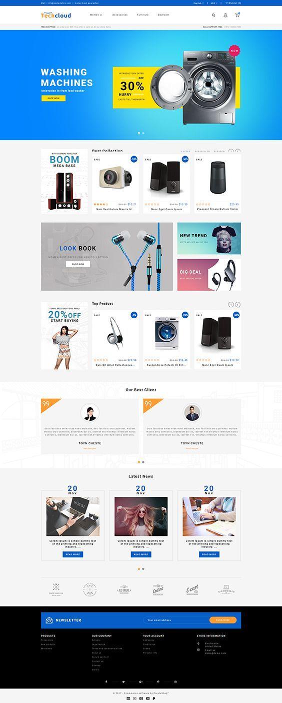 Pin By Sleepy Sandy On Web Design Ecommerce Themes Prestashop Themes Best Shopify Themes