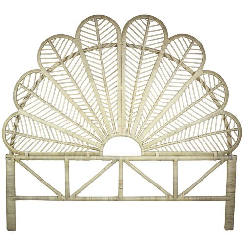 Luana Queen Rattan Headboard Rattan Headboard King Size Bed