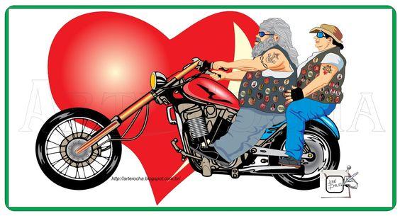 MOTOCICLISTA APAIXONADO Aqui outra visualização do motocilista, indicando que idade não é preconceito ou impedimento para andar e curtir uma moto. Desenho - Ilustração - Illustration - Drawing