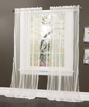 Love this Ivory Lola Window Curtain Panel - Set of Two by Lush Décor on #zulily! #zulilyfinds