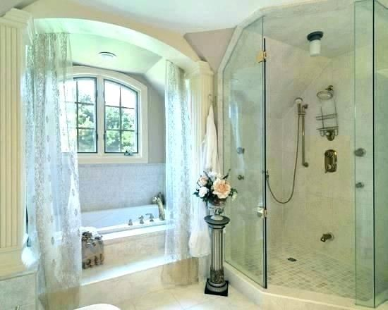 Walk In Shower With Curtain Instead Of Door Google Search