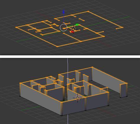 Free Blender Tutorial Create A 3d Floor Plan From An Architectural Schematic Blender Tutorial Blender Architecture Blender 3d
