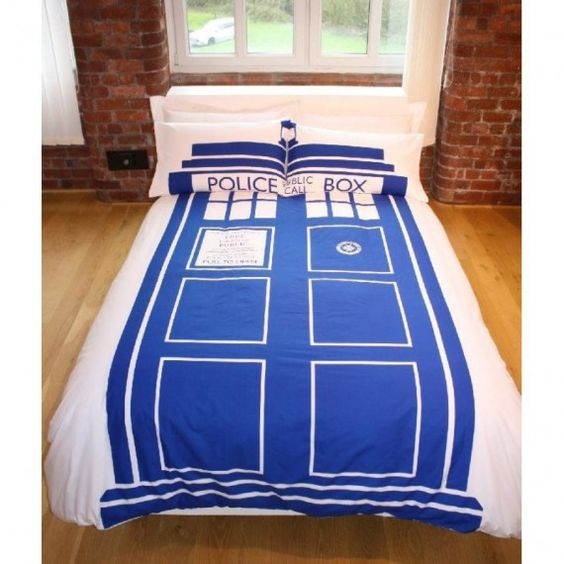 Parure de lit double Tardis Doctor Who